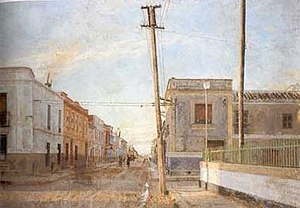 Antonio López García - Street of Santa Rita, oil on canvas, 1961 by Antonio López Garcia