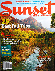The cover of Sunset magazine