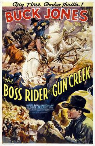 The Boss Rider of Gun Creek - Theatrical release poster