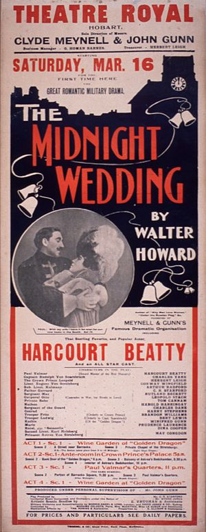 The Midnight Wedding - Poster from a 1907 Australian production