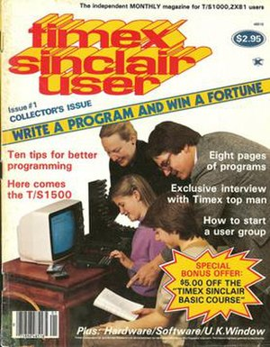Sinclair User - Timex Sinclair User was a spin-off published for the US market.