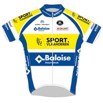 Sport Vlaanderen–Baloise - Image: Topsport Vlaanderen Mercator jersey