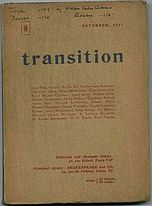 Cover of Issue 8 of literary magazine transition