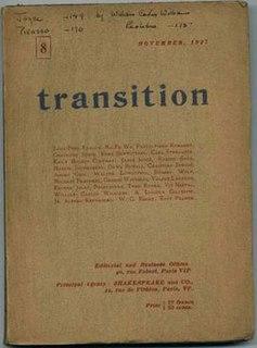 <i>Transition</i> (literary journal) experimental literary journal