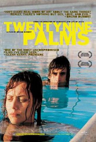 Twentynine Palms (film) - Image: Twentynine Palms Film Poster