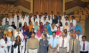 University of Health Sciences (Lahore) - Students of Sargodha Medical College with Vice Chancellor UHS