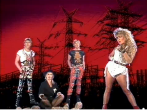 """When We Were Young (Bucks Fizz song) - Bucks Fizz in the promotional video for """"When We Were Young"""""""