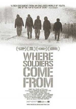 107th Engineer Battalion - Theatrical poster of the Emmy Award winning PBS documentary Where Soldiers Come From, which was based on the experiences of Specialists Cole Smith and Dominic Fredianelli of the 107th Engineer Battalion.