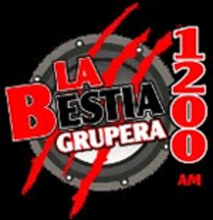 XEQY-AM - Image: XEQY La Bestia Grupera 1200 logo