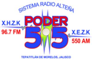 XHZK-FM - Image: XHZK Poder 55 96.7 logo