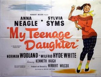 My Teenage Daughter - British quad poster by Brian Robb