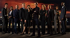 24 (season 6) - Season 6 main cast: (from left to right) Eric Balfour, Marisol Nichols, Carlo Rota, James Morrison, Mary Lynn Rajskub, Kiefer Sutherland, Jayne Atkinson, Peter MacNicol, Regina King, and D. B. Woodside
