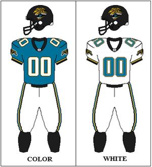 1996 Jacksonville Jaguars season - Image: AFCS 1995 1996 Uniform JAX