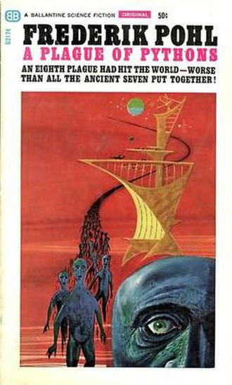 A Plague of Pythons - First edition, published by Ballantine Books. Cover art by Richard M. Powers