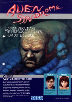 Alien Syndrome - Arcade flyer for Alien Syndrome