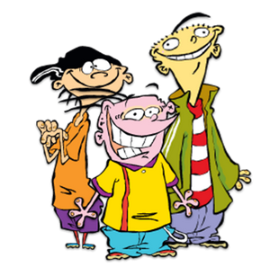 "Ed, Edd n Eddy - From the left: Edd (""Double D""), Eddy, and Ed."