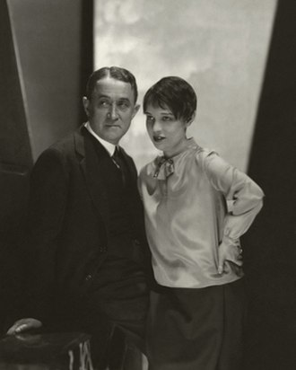 Anita Loos - Anita Loos and John Emerson by Edward Steichen for Vanity Fair, July 1928