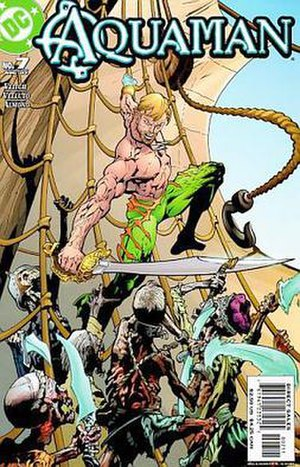 Aquaman - The initial look of the 2003 series by Yvel Guichet.