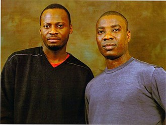 Ayo Shonaiya - Ayo and Wasiu Ayinde Marshall (K1 De Ultimate) in 1999.