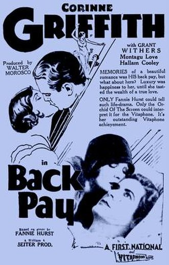Back Pay (1930 film) - Image: Back Pay 1930 Poster