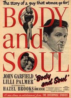 <i>Body and Soul</i> (1947 film) 1947 film noir directed by Robert Rossen
