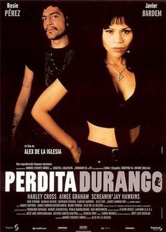 Perdita Durango - Theatrical release poster by Oscar Mariné