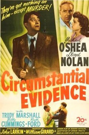 Circumstantial Evidence (1945 film) - Theatrical release poster