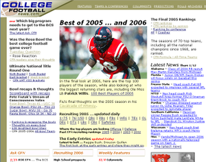 College Football News - Image: College Football News homepage