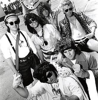 Dread Zeppelin - Clockwise from left: Jah Paul Jo, Ed Zeppelin, Carl Jah, Put-Mon, Charlie Haj, Tortelvis