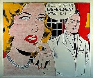 <i>Engagement Ring</i> (Roy Lichtenstein) 1961 pop art painting by Roy Lichtenstein