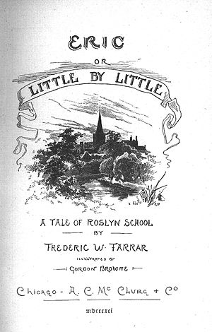 Eric, or, Little by Little - Title page from 1891 edition of the book.