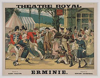 Erminie - Poster from an 1894 production of Erminie at the Theatre Royal in Edinburgh