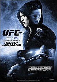 A poster or logo for UFC 170: Rousey vs. McMann.