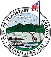 Official seal of Flagstaff, Arizona (Kinłání Dook'o'oosłííd Biyaagi)