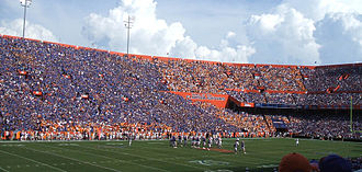 Florida–Tennessee football rivalry - Gator fans are encouraged to wear blue when Florida plays Tennessee to stand out from orange-clad Volunteer fans.
