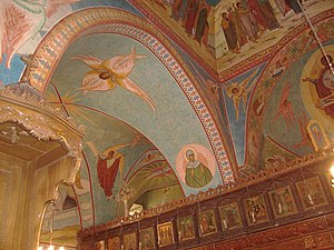 Homs - Some frescoes inside the Church of Saint Elian date back to the 6th century