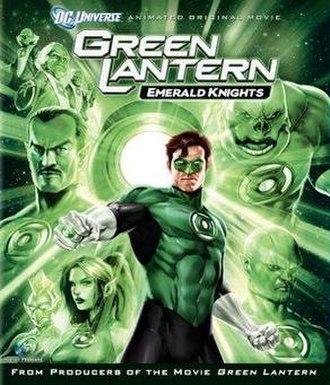 Green Lantern: Emerald Knights - Cover of the U.S. Blu-ray