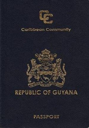 Guyanese passport - Guyanese passport front cover