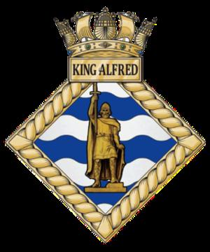 HMS King Alfred (shore establishment 1994) - Image: HMS King Alfred badge