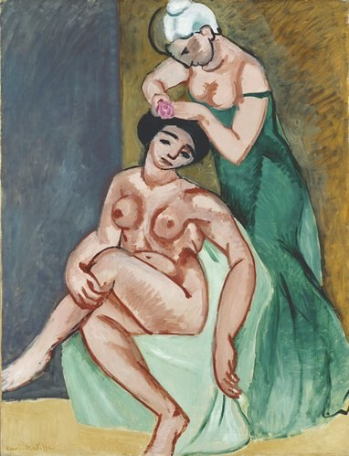 Henri Matisse, 1907, La coiffure, 116 x 89 cm, oil on canvas, Staatsgalerie, Stuttgart