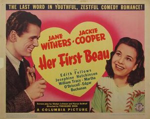 Her First Beau - Lobby card for the film