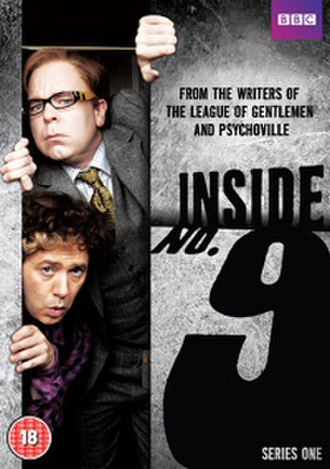 "Inside No. 9 - Series one DVD cover, featuring Pemberton (top) and Shearsmith (bottom) as they appeared in episode 1, ""Sardines"""