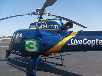 KCRA-TV - KCRA's Live Copter 3 at Executive Airport.