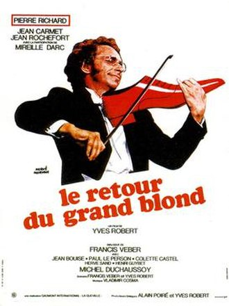 The Return of the Tall Blond Man with One Black Shoe - French film poster for The Return of the Tall Blond Man with One Black Shoe
