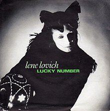 "The 7"" single cover of the 1982 re-release of ""Lucky Number""."
