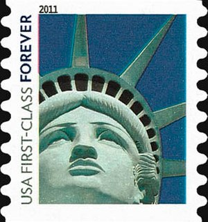 Statue of Liberty Forever stamp - Image: Liberty Forever Stamp