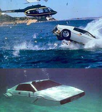 The Spy Who Loved Me (film) - The Lotus Esprit as seen falling into the sea and then in submarine mode.