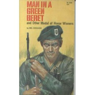 United States Army Special Forces in popular culture - A paperback book cover by Norm Saunders