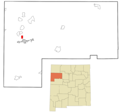 Location of Gamerco, New Mexico