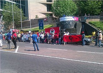 Occupy South Africa - Demonstrators at Occupy Johannesburg.